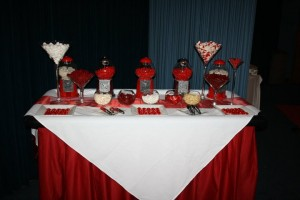 Red white lolly buffet